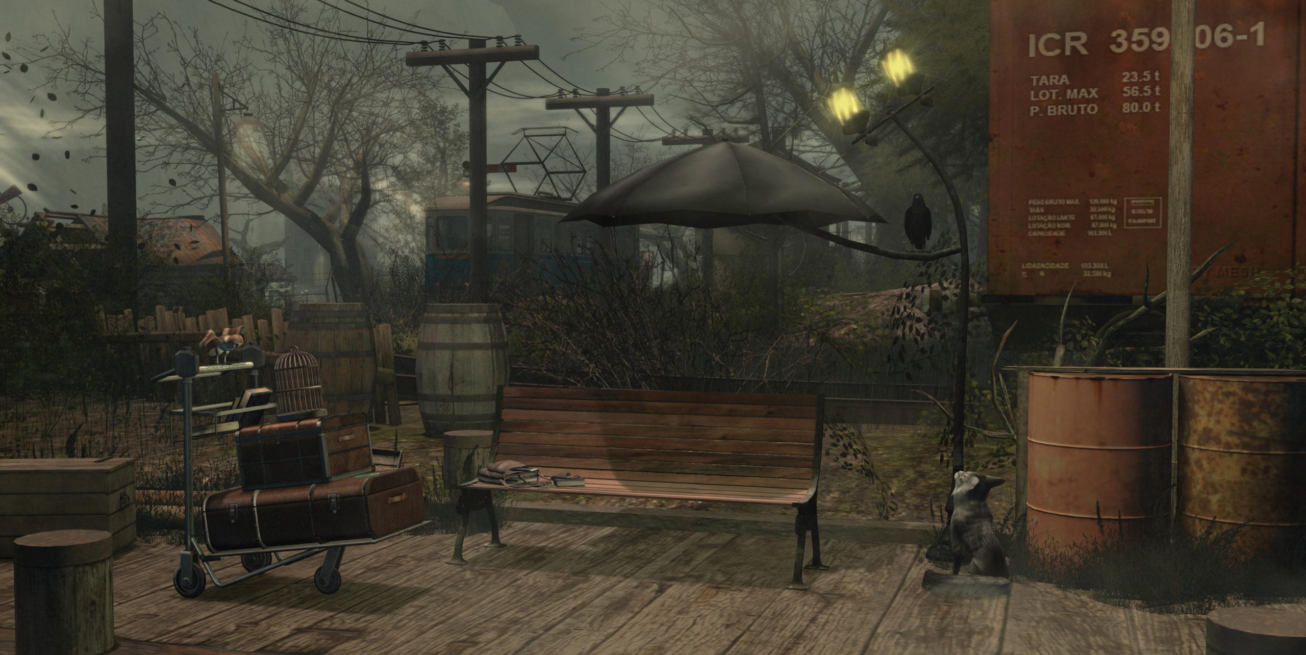Goose - Umbrella bench